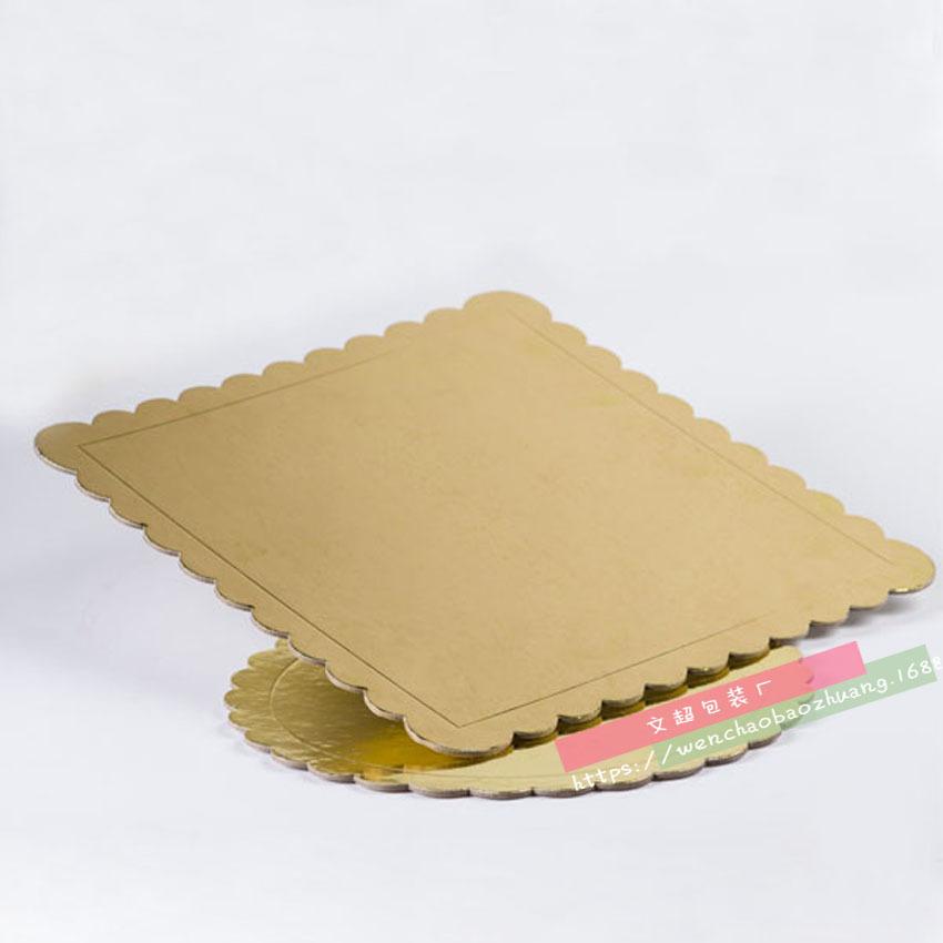 金色长方形正方形圆形蛋糕垫 10/12/14英寸蛋糕底托