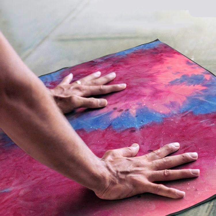 厂家供应吸汗防滑瑜伽垫 健身用品瑜伽铺巾 瑜伽辅助用品