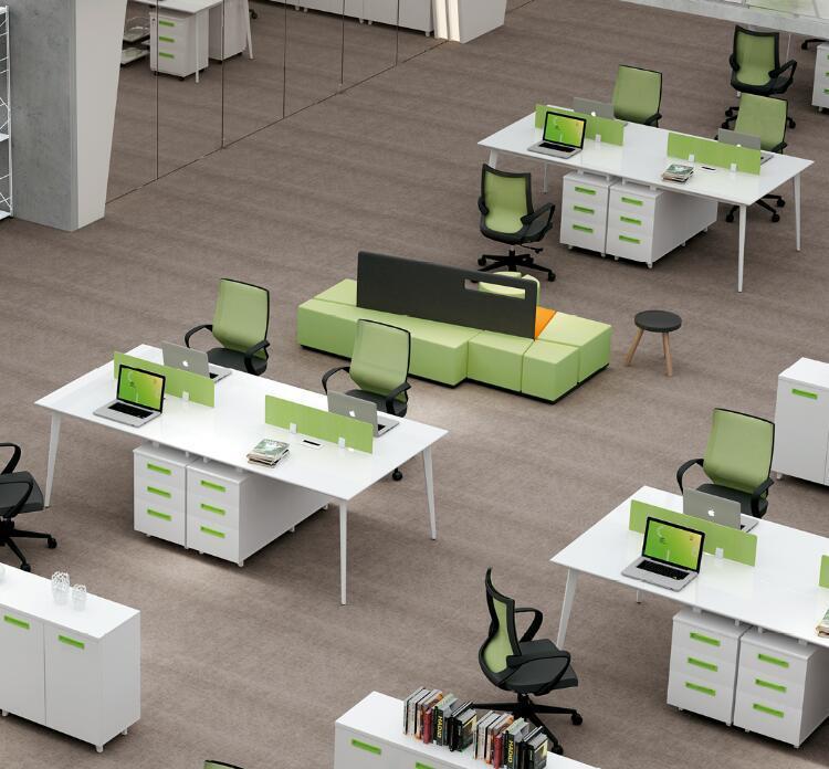 厂家供应 时尚款2人屏风办公桌组合 屏风员工位定做 办公家具定做