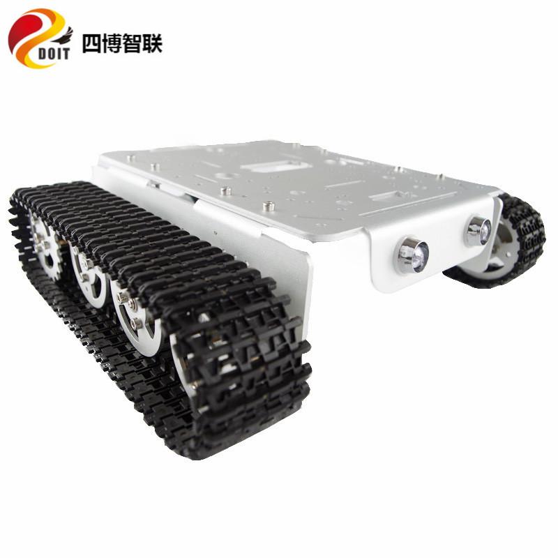 T200金属履带式坦克底盘遥控机器人小车模型创客电子竞赛12V电机