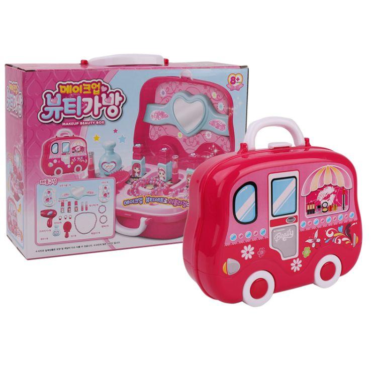手提箱儿童女孩彩妆盒玩具化妆品口红套装过家家礼品礼厂家直销