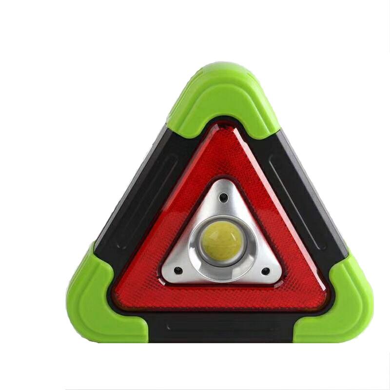 跨境干电池款LED交通警示灯施工信号灯 手提COB工作灯汽车应急灯