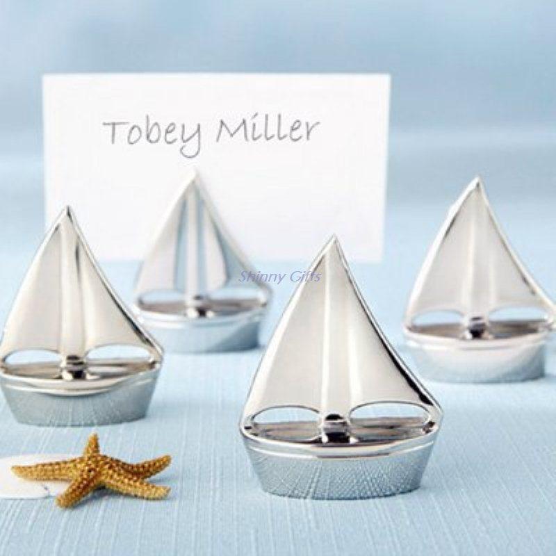 创意回礼礼品帆船席位卡婚庆桌卡席位 婚礼赠品 名片座 商务礼品