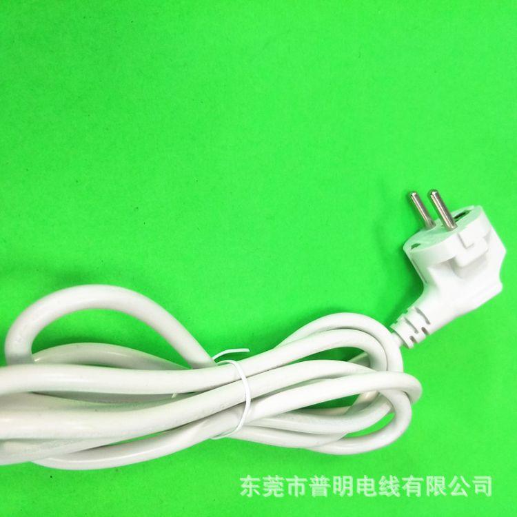 厂家供应欧规电源线1.5米欧式白色插头线10A250V欧标三插电源线