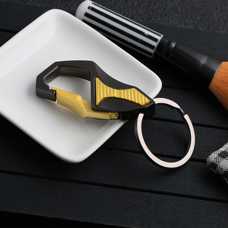 新2019金刚色款式防滑不锈钢钥匙扣 服饰箱包配件定制厂家直销