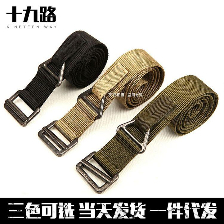 加厚牛津布腰带弹力带 加宽条纹弹力编织皮带 多功能迷彩军迷腰带