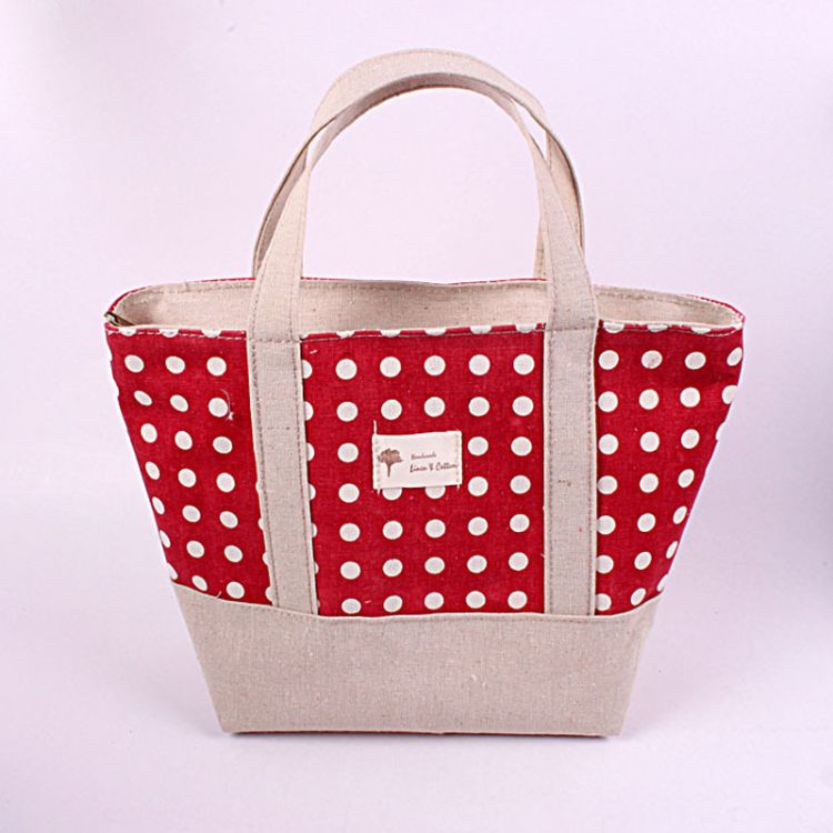 zakka创意韩式棉麻购物袋环保印花女版单肩包手提袋