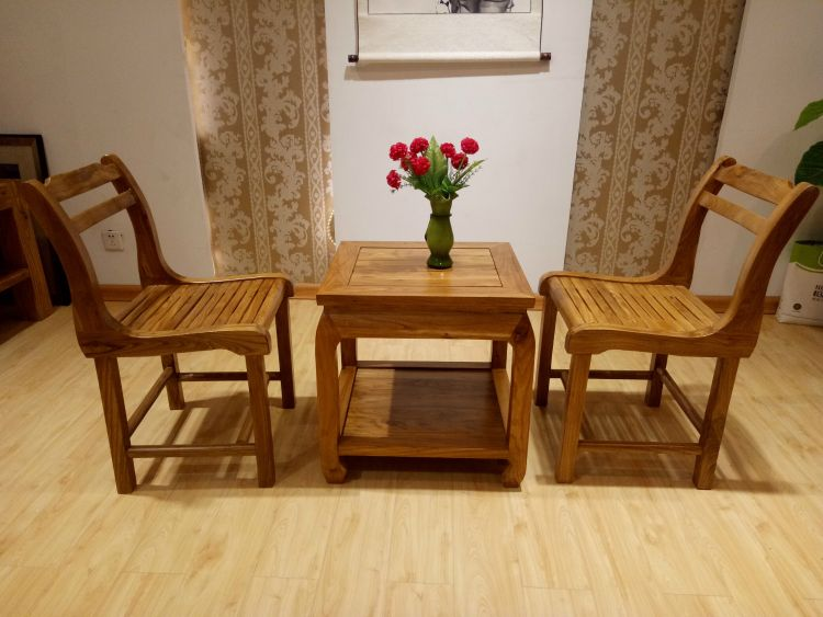 老榆木椅子 原生态休闲椅子 餐椅实木家具定制咖啡桌椅组合