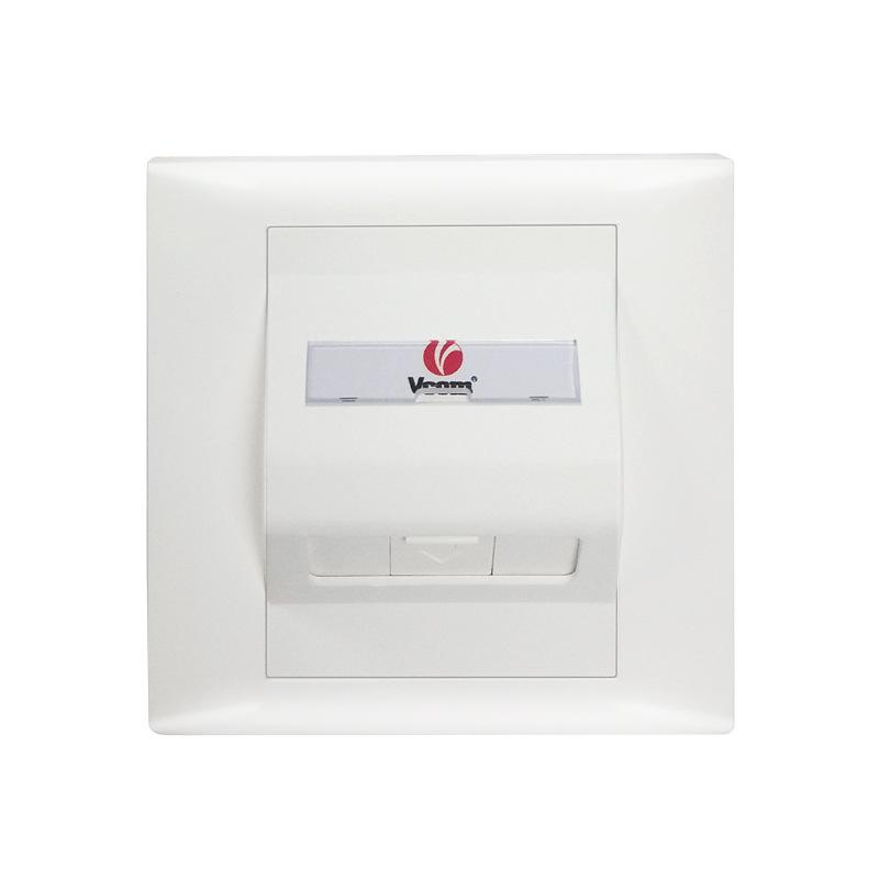 vcom唯康 86型单口斜口彩色电话有线电视机底盒 单口斜面面板