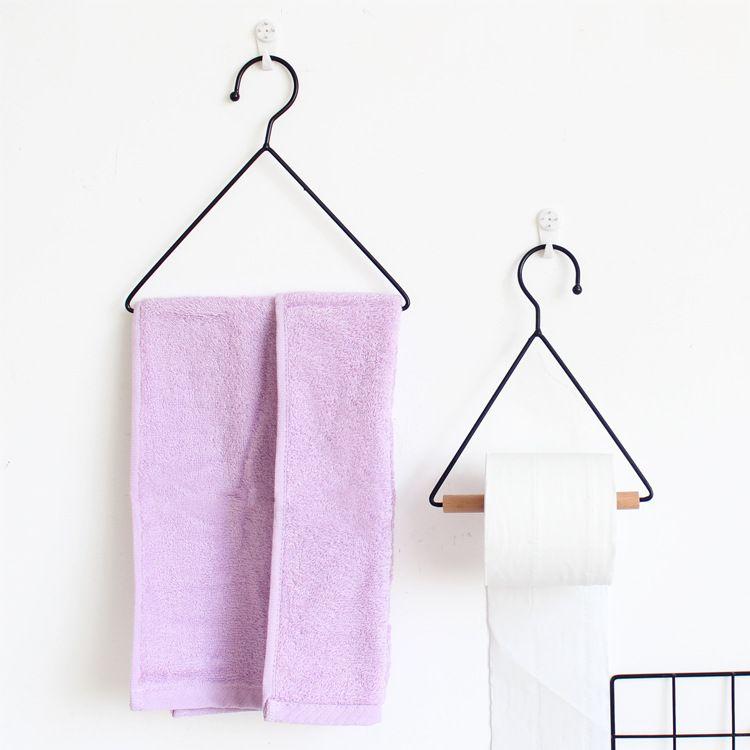 朴色Zakka杂货文艺三角架毛巾架纸巾架厨房卫生间毛巾架装饰小号
