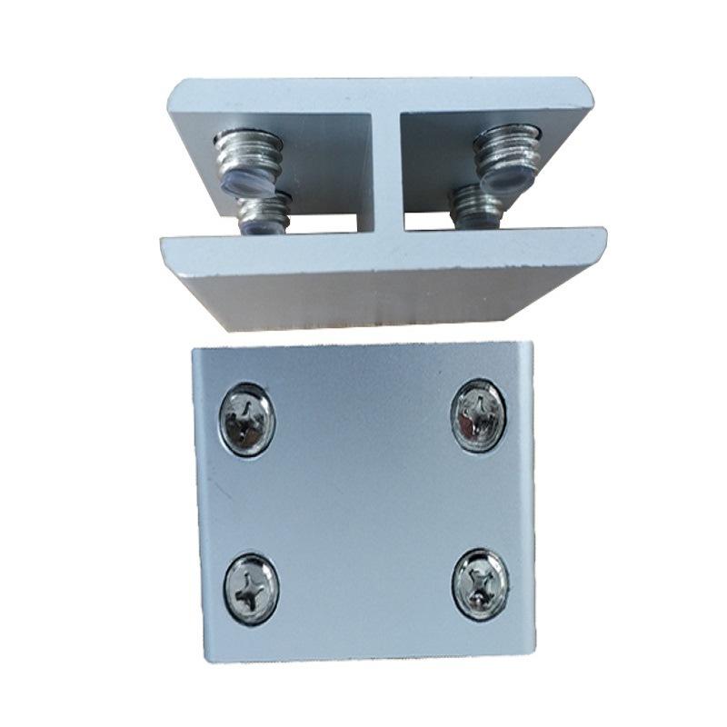 免打孔结实夹玻璃固定夹 展柜组合夹角码链接夹结实托加厚浴室款