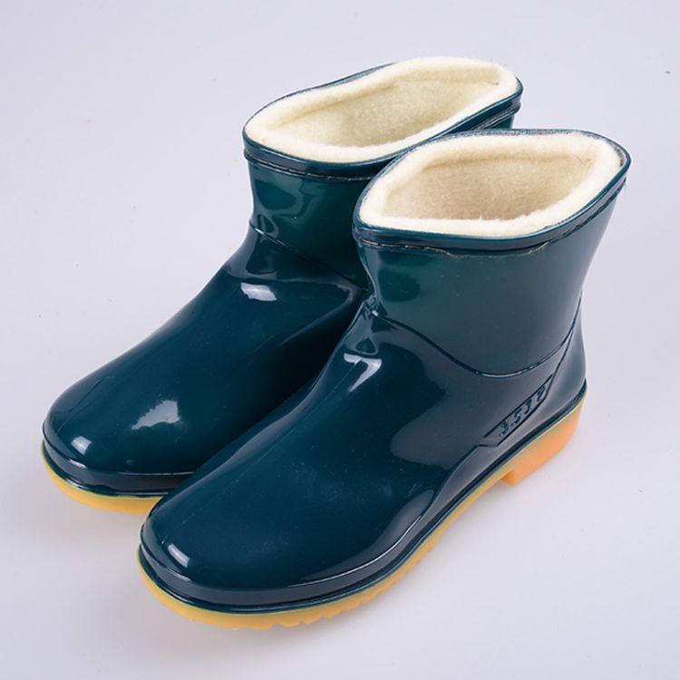 批发低筒女式棉靴水靴水鞋美观大方防水保暖耐油耐磨耐酸碱