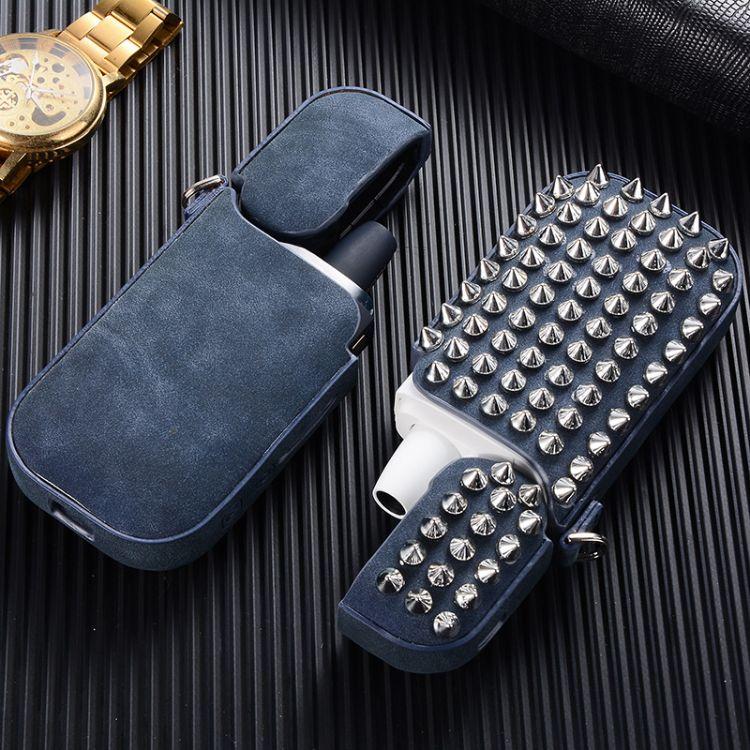 日本IQOS电子烟机器保护套二三代烟盒外壳便携壳子配件手工铆钉