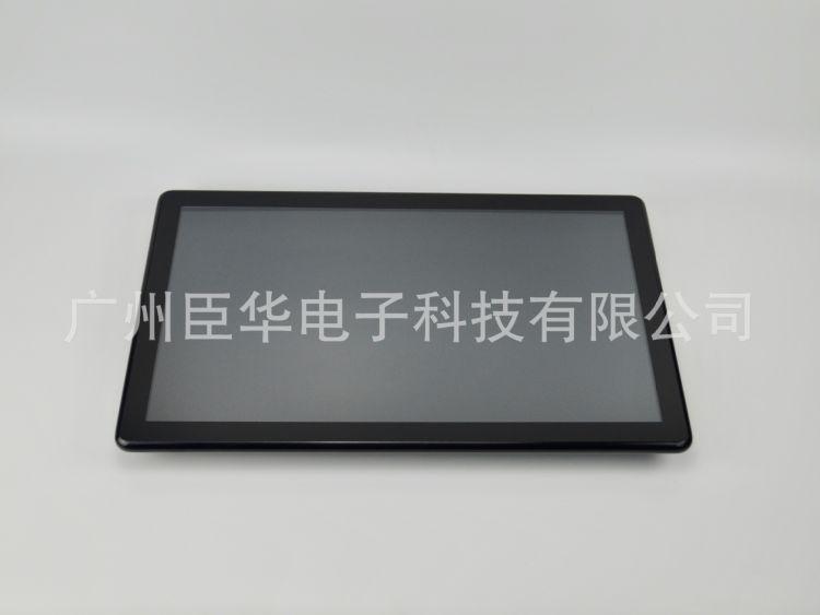21.5寸电容触摸一体机,一体成型铝合金边框,10点电容触摸屏