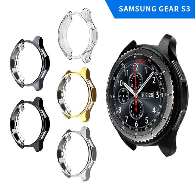 适用三星智能手表 gear s3保护套 TPU电镀防摔表壳 保护壳