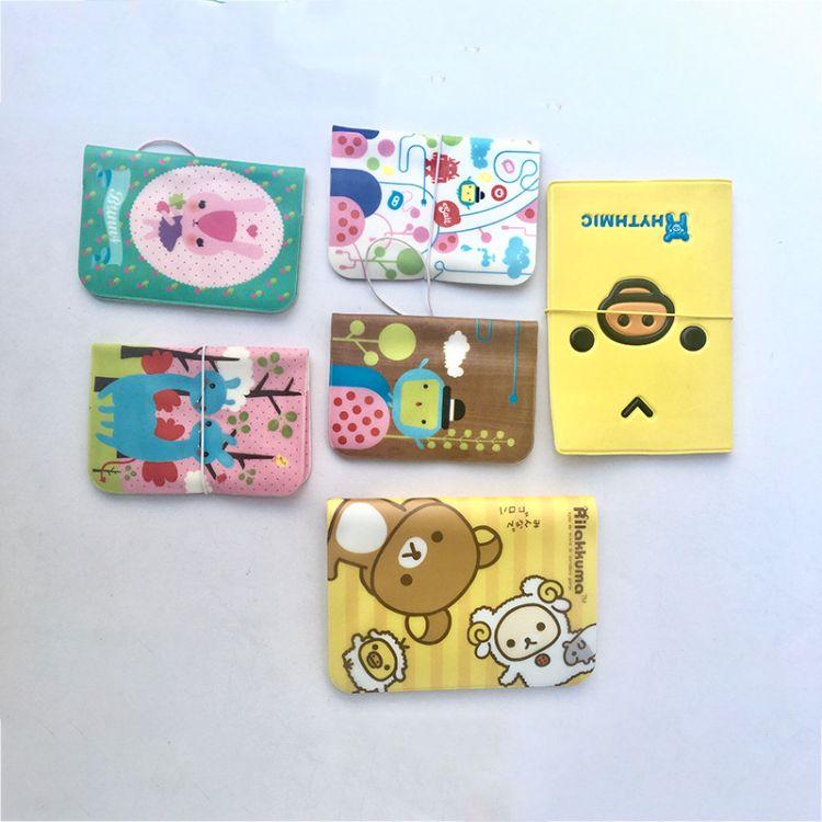 卡通印花PVC卡包 一手货源 多卡位防水PVC包多色动物公交卡卡套