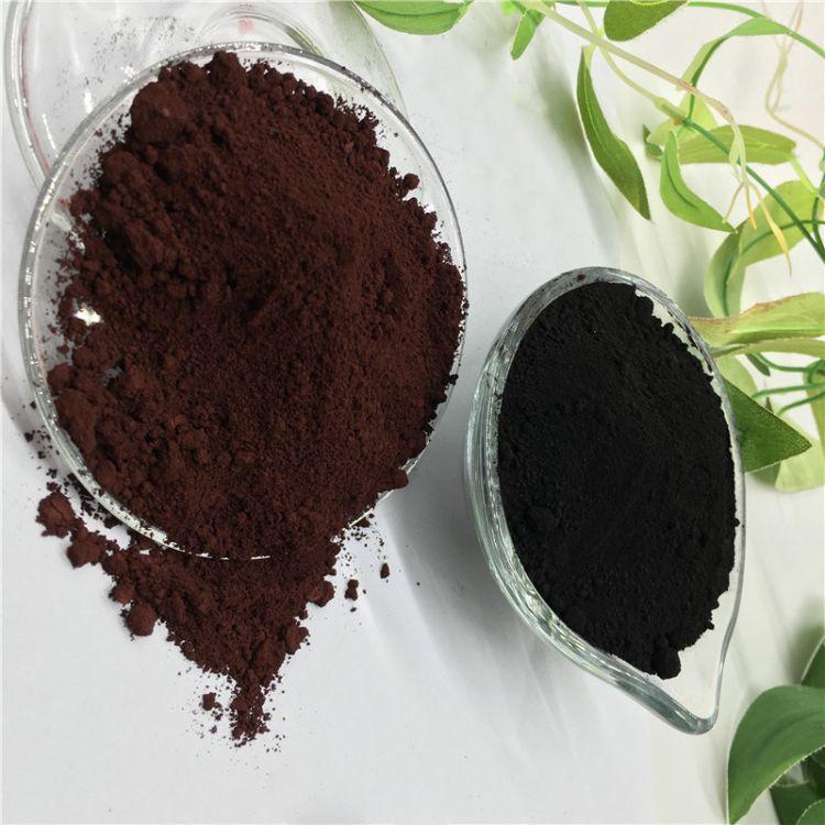 厂家低价销售氧化铁棕 透水混凝土路面专用铁棕色粉