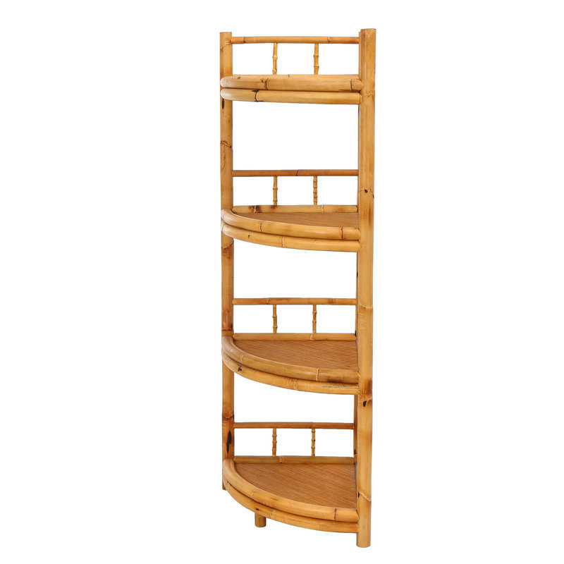 昌盛藤器 茶台墙角架 墙上多层置物架 可移动置物架 家用置物架 多功能置物架