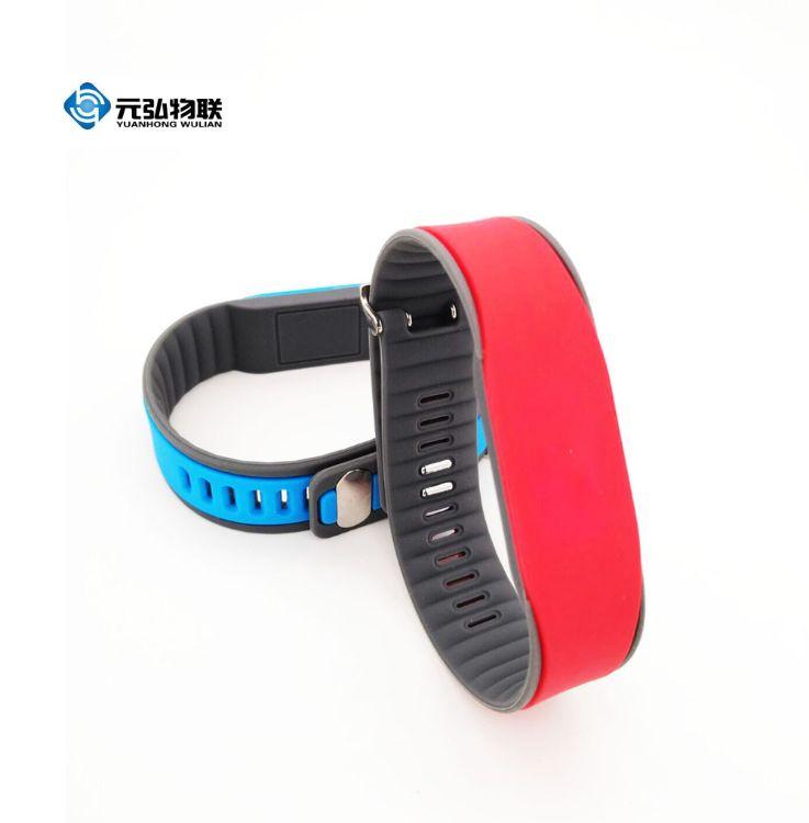 供應RFID硅膠手腕帶進口NXP S70硅膠IC手環 桑拿手表RFID手環廠家