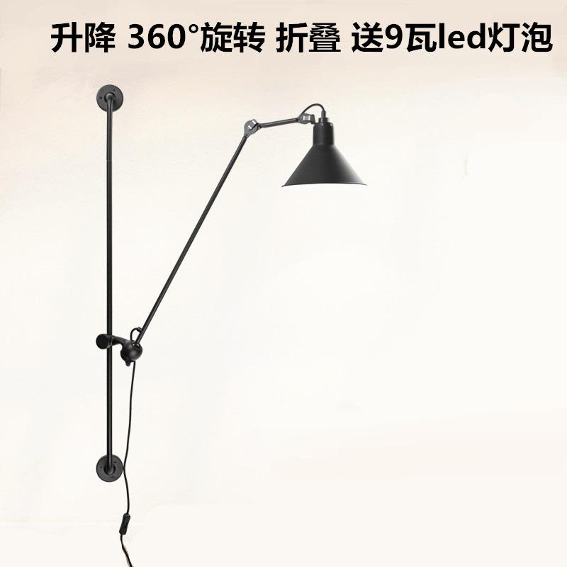 设计师床头墙壁灯简约现代客厅卧室餐厅咖啡厅创意工业风铁艺灯具