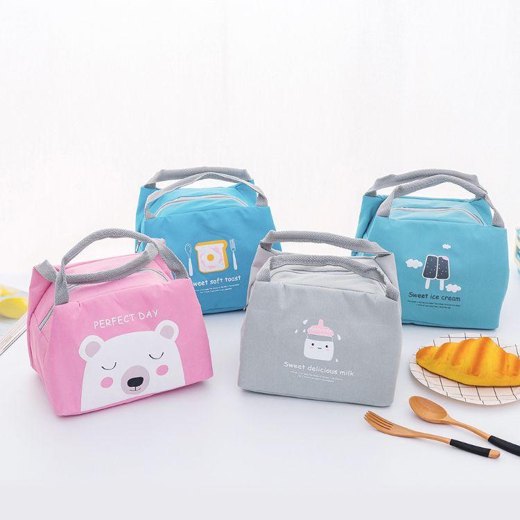 新款韩版手提学生保温包小号便携午餐包便当包加厚儿童保温袋批发