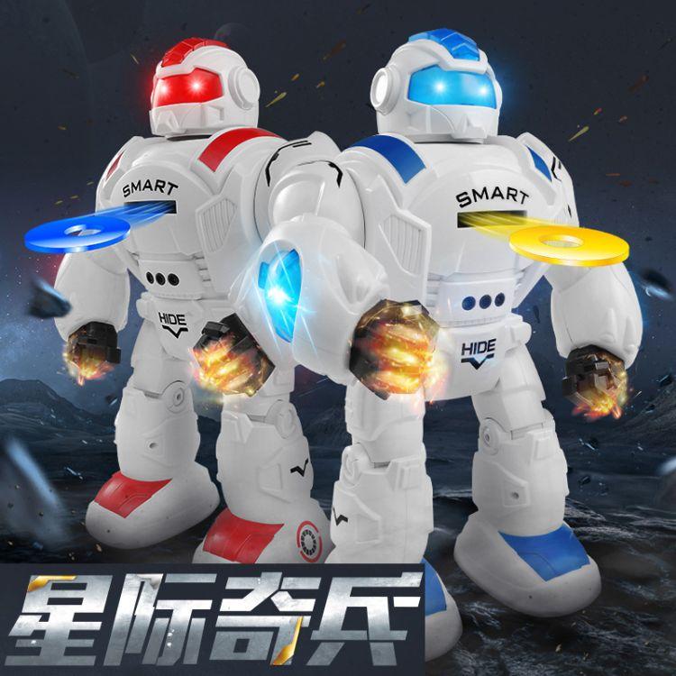 27115新品星际奇兵机器人男孩电动玩具编程遥控会唱歌跳舞玩具
