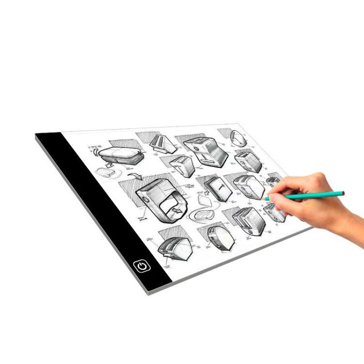 A4动漫拷贝台LED透写台发光画板复写练字板漫画临摹工具观片台