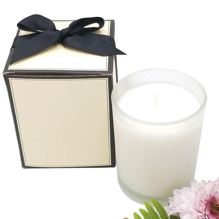 香味蜡烛玻璃厂家直销商务送礼舒缓神经大豆蜡玻璃杯香薰蜡烛