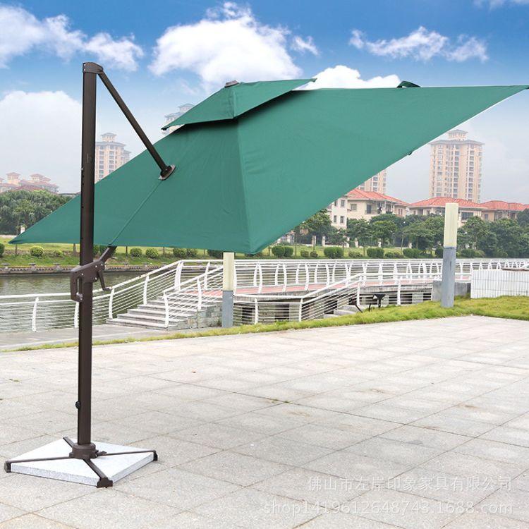 厂家直销大型户外遮阳伞大号水箱双层圆罗马伞3米庭院侧立伞