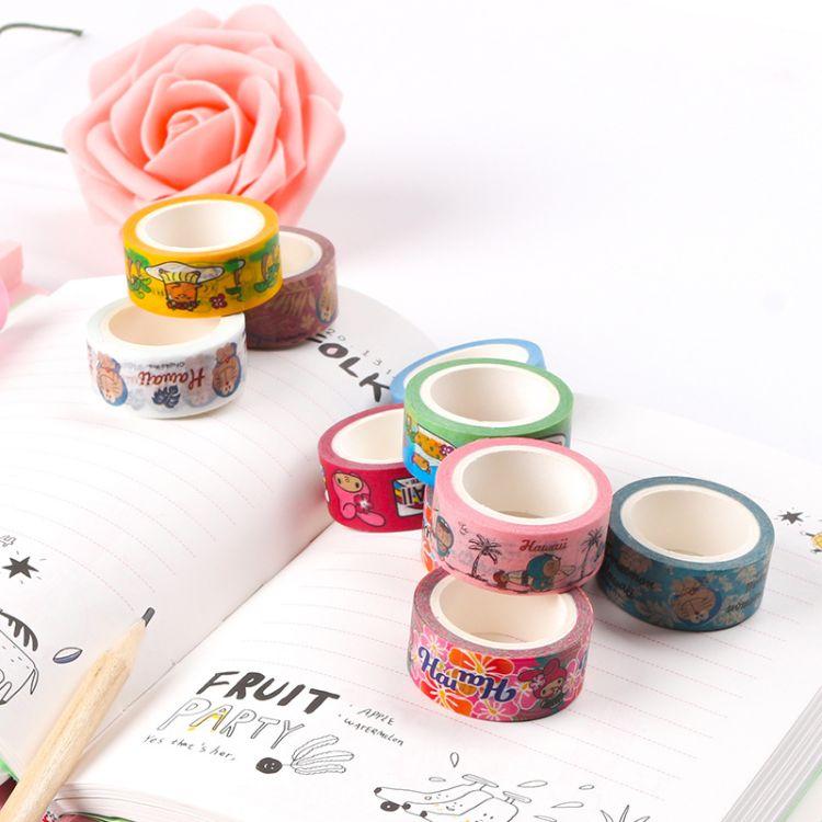 和纸胶带定做 DIY日本易撕手账和纸胶带 15mm*5m可定制各种规格