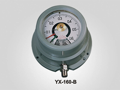 供应DC 220V或AC 380V径向和轴向YX-160-B防爆电接点压力表