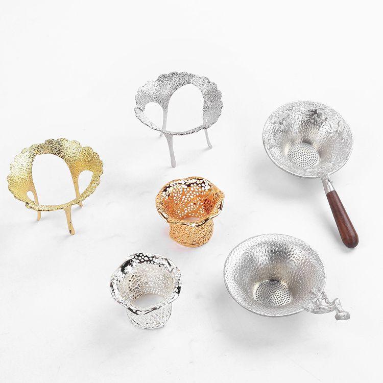 锡茶漏茶滤茶过滤网茶漏斗 式功夫茶具套装 家用创意个性手工配件