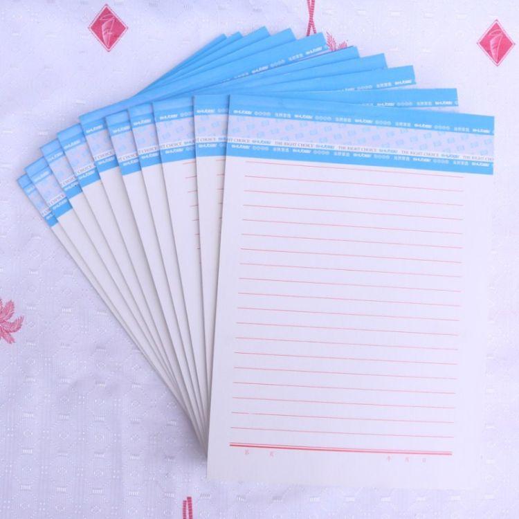 16K信纸本学生用稿纸本加厚单线本子页眉练字本信笺信签办公用纸