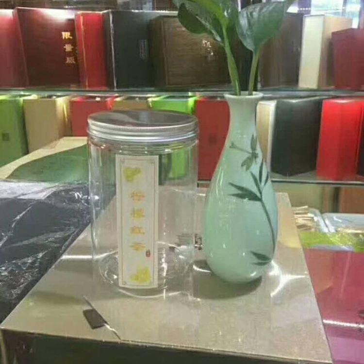 大量生产PET铝盖透明螺旋罐 多种规格螺旋罐 食品包装罐 塑料瓶