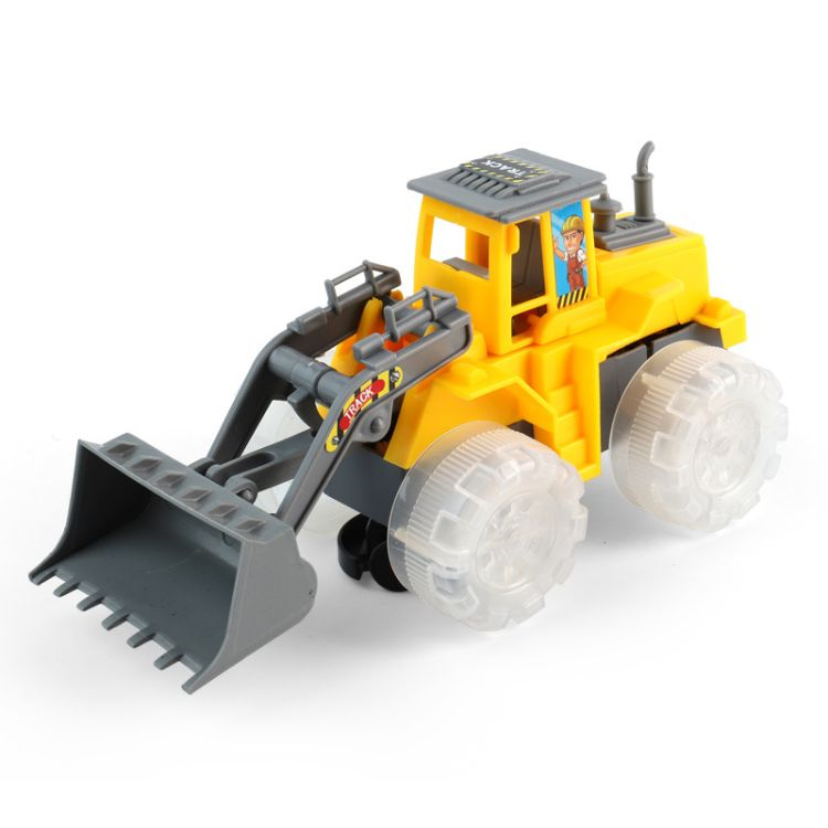 儿童电动万向仿真工程车玩具灯光音乐挖掘机推土机压土机模型玩具