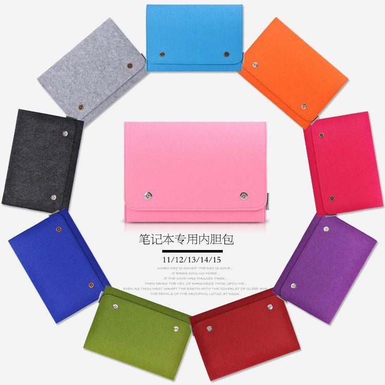 厂家批发毛毡手提电脑包 苹果air13保护套 笔记本内胆包定制logo