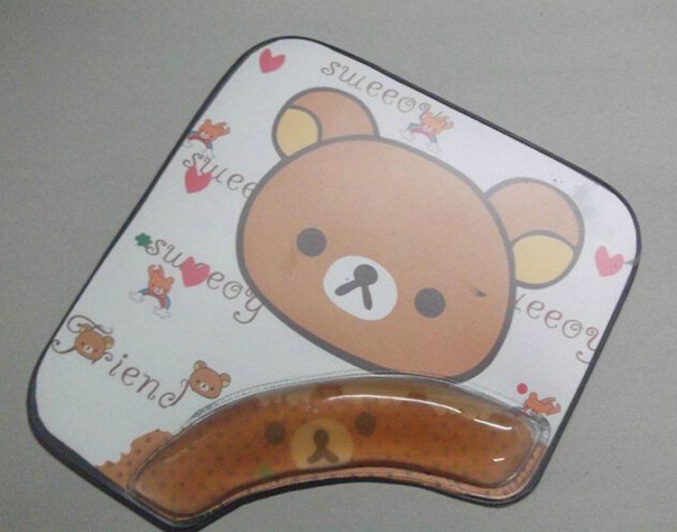 实用PVC护手鼠标垫 PVC入油鼠标垫