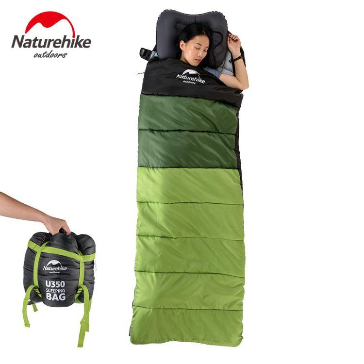 Naturehike NH挪客户外超轻成人睡袋野营露营可拼接双人睡袋U350S