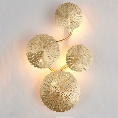后现代壁灯轻奢全铜楼梯客厅纯铜灯美式纽约曼哈顿六善酒店灯具