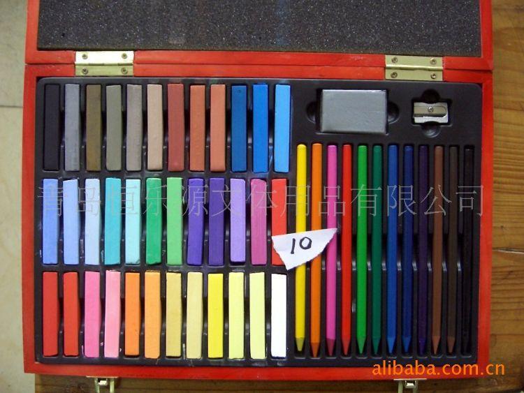 供应 青岛 HLY 48色 色粉棒  量大从优 美术颜料【图】