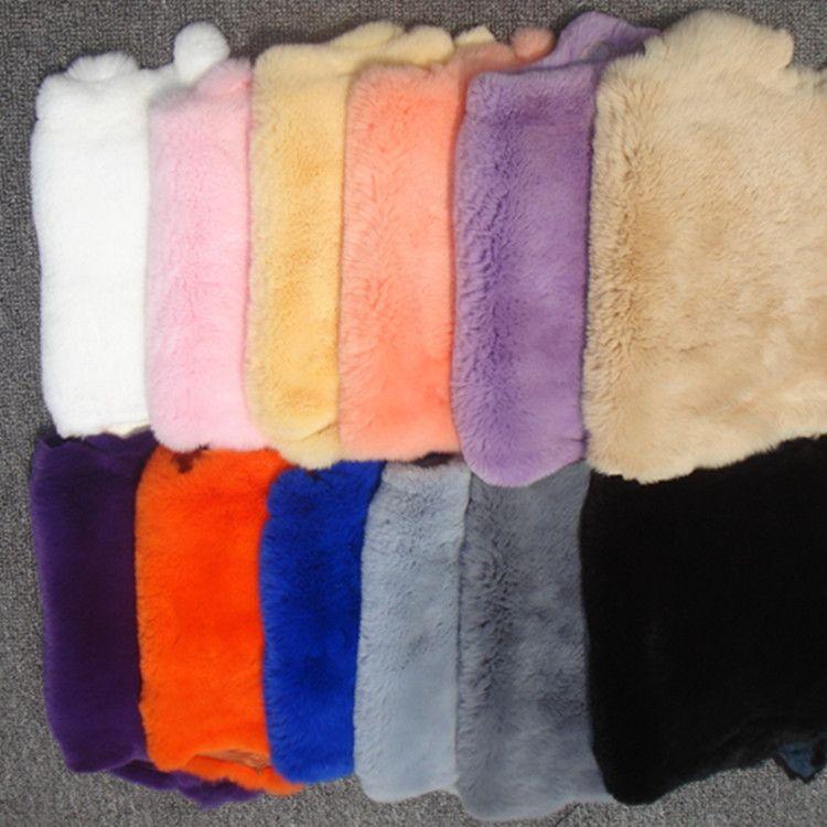 厂家批发优质獭兔皮整张冬季兔毛鞋包袖口护膝手机壳diy皮草原料