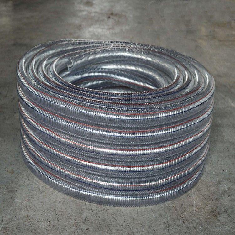 直销PVC吸尘管、吸尘管、pu钢丝管、pu耐磨软管