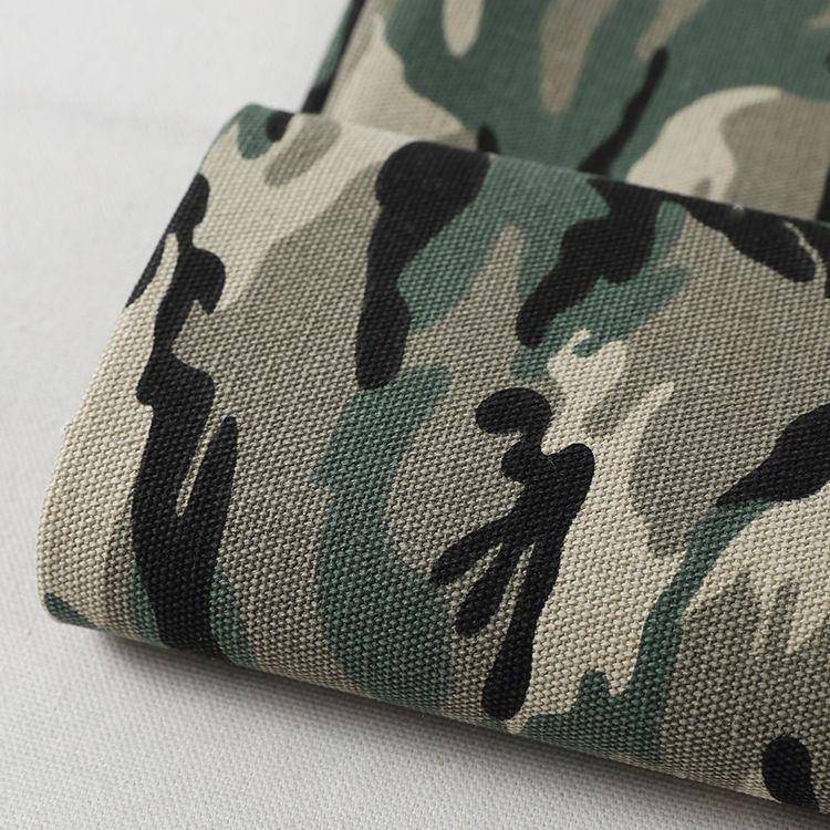 16安涤棉印花帆布 迷彩帆布 背包家居家纺专用布 厂家批发