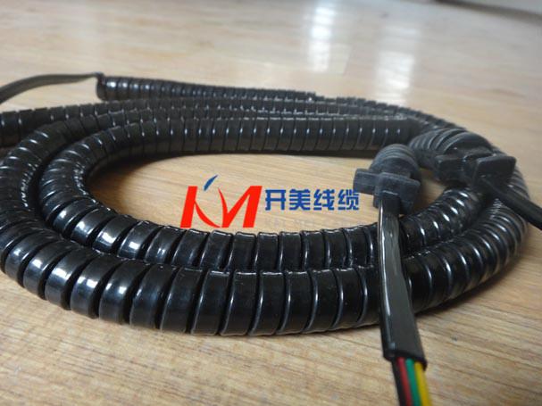 供应双线扁平螺旋电缆弹簧线伸缩线-玩具遥控卷线定制生产