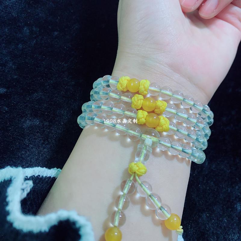 天然白水晶项链手链通用款 水晶时尚新品