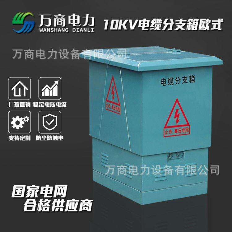 万商电力   厂家直销10KV高压T型 欧式电缆分支箱 DFW-630不锈钢一进一出高压