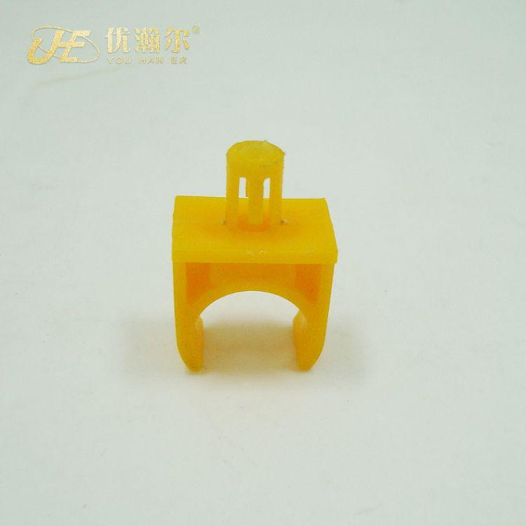 360度可旋转线卡 #16黄PP 线管卡塑料卡 空调管卡尼龙线卡批发