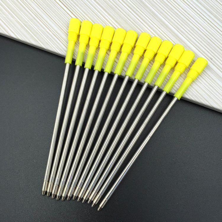 钻石笔笔芯金属全长82MM 金属笔芯旋转水晶钻石笔芯 女王宝石笔芯