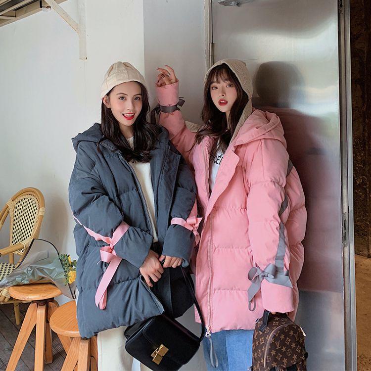 韩版宽松中长款2019港风新款棉袄面包服学生加厚冬季外套女装尾货批发