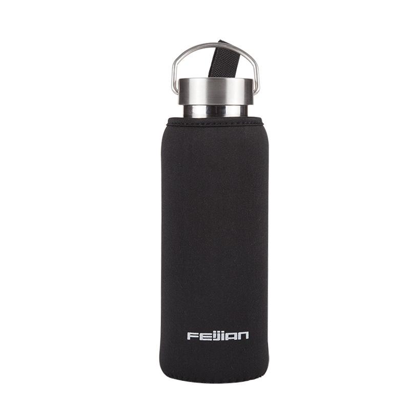 飞剑品牌 单层不锈钢运动水壶杯套 便携隔热防烫户外杯子套刷